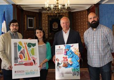Ricardo González y Cristina del Campo ganan el Concurso de Carteles de San Mateo 2017