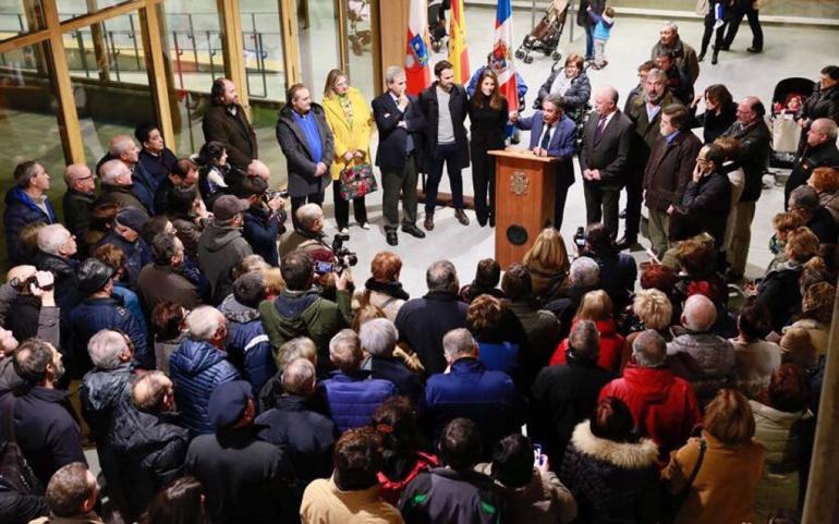 El presidente de Cantabria y el alcalde de Reinosa inauguran el Impluvium