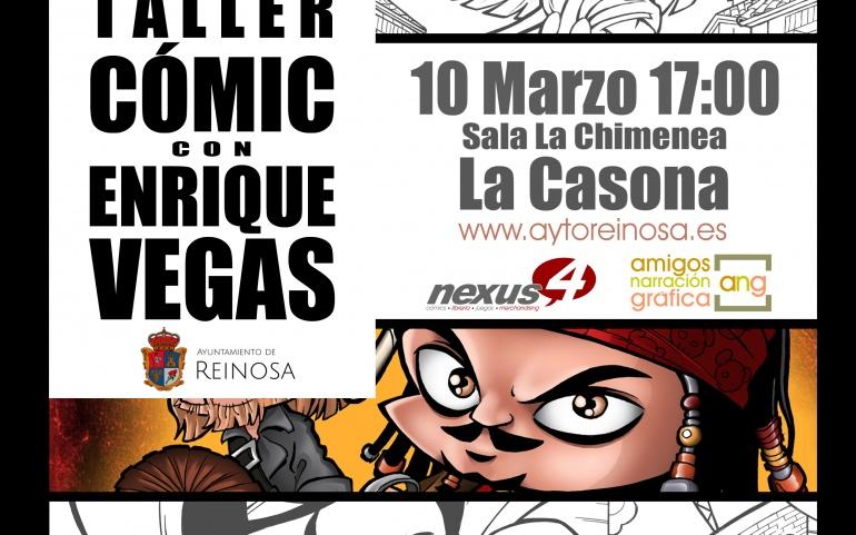 Enrique Vegas impartirá una nueva jornada del Taller de Comic de Reinosa