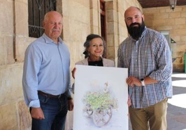 La artista Alicia Cañas plasma el pasado y el futuro del Dia de Campoo