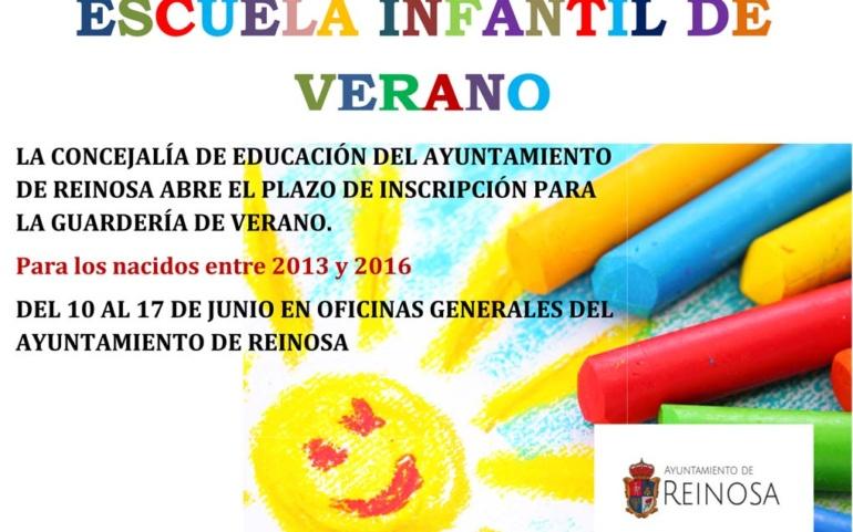 El Ayuntamiento fija el plazo de inscripción en la Escuela Infantil de Verano