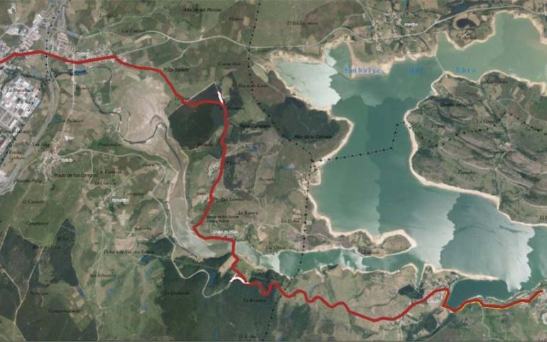 Vias afectadas por el paso del 6 Triatlón Sur de Cantabria