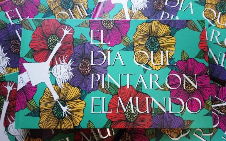 """Alberto Gallo y Almudena Báscones presentan el libro """"El dia que pintaron el mundo"""""""