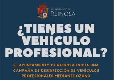 Campaña gratuita de desinfección de vehículos profesionales