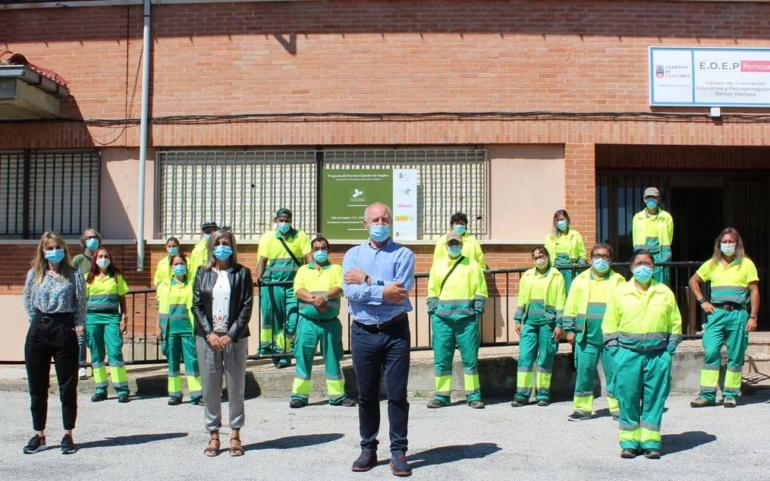 El nuevo taller de empleo del Ayuntamiento de Reinosa da sus primeros pasos