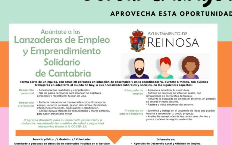El Ayuntamiento de Reinosa pone en marcha la V Lanzadera de Empleo y Emprendimiento Solidario