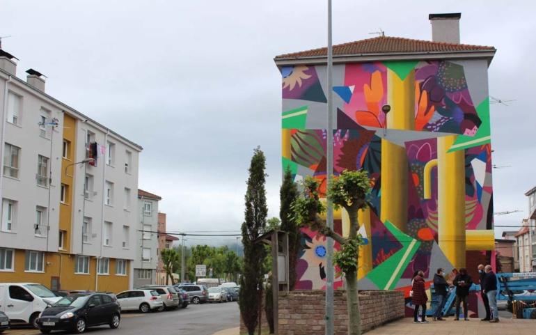El proyecto de arte urbano Galería Vertical incorpora un gran mural del creador Digo Diego