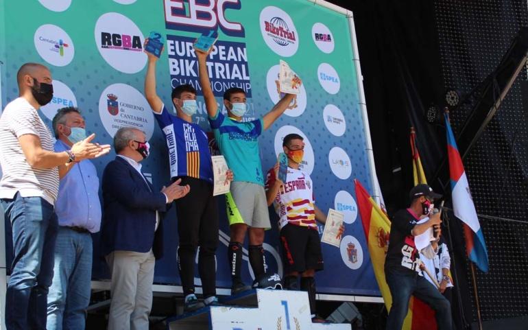 Julen Sáenz se proclama en Reinosa campeón de Europa de bike trial